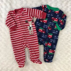 Carter's Newborn Holiday Footed Sleepers Reindeer